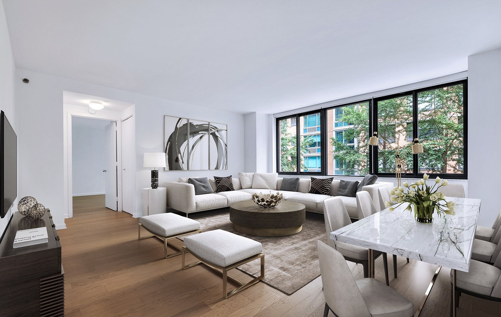 535 W 23rd Street -Marble table