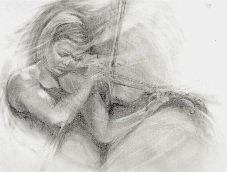 "ALINA IBRAGIMOVA - BACH CHACONNE FROM BACH'S PARTITA NO 2   h. 11.4""  l. 14.8"""
