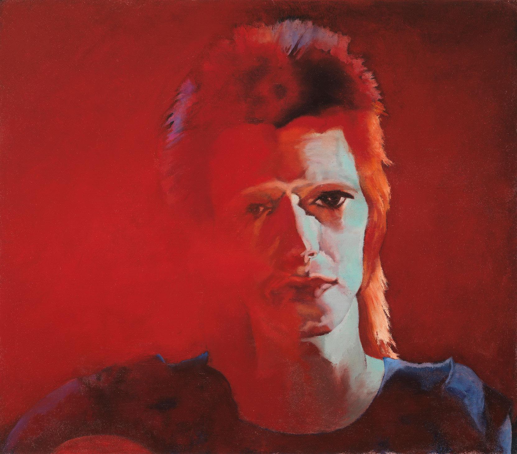 "Red Shift - David Bowie 21""h X  24""w"
