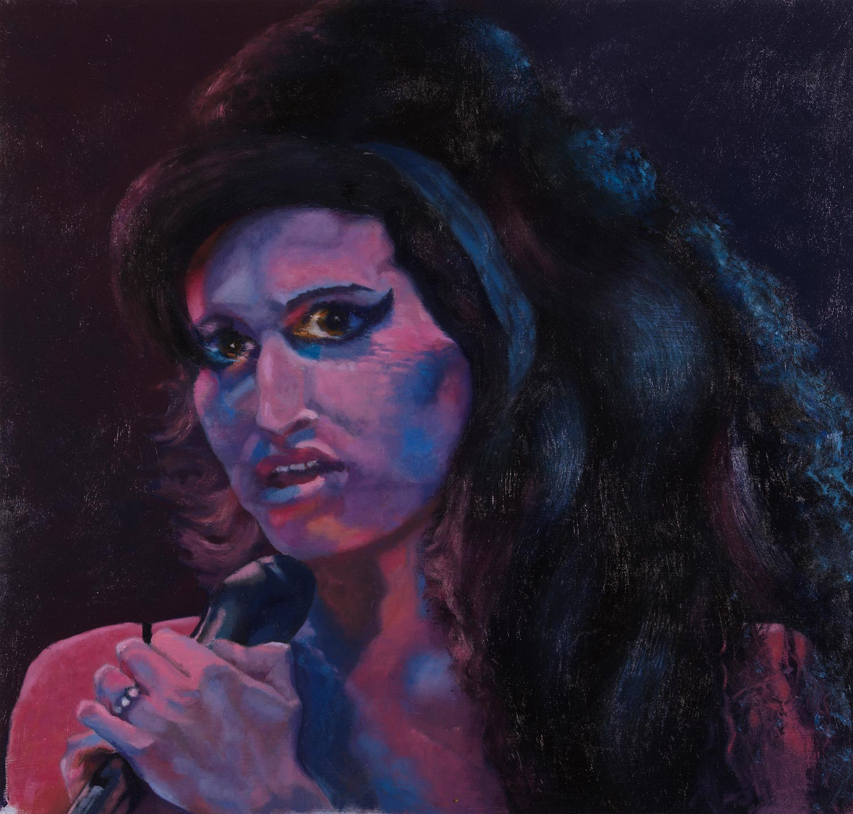 "Back to Black - Amy Winehouse 23""h X 24""w"