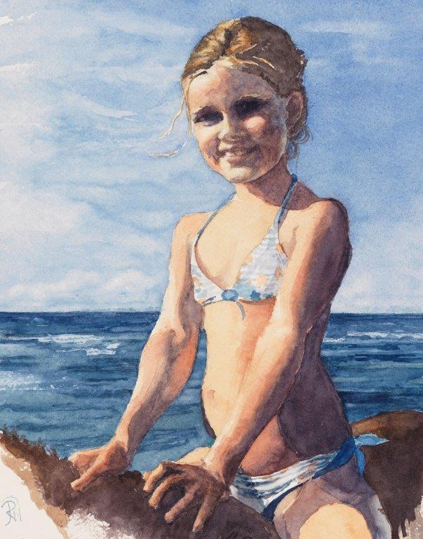 Tess at the Beach