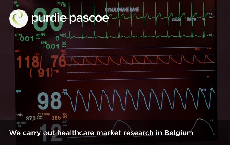 We carry out healthcare market research in Belgium