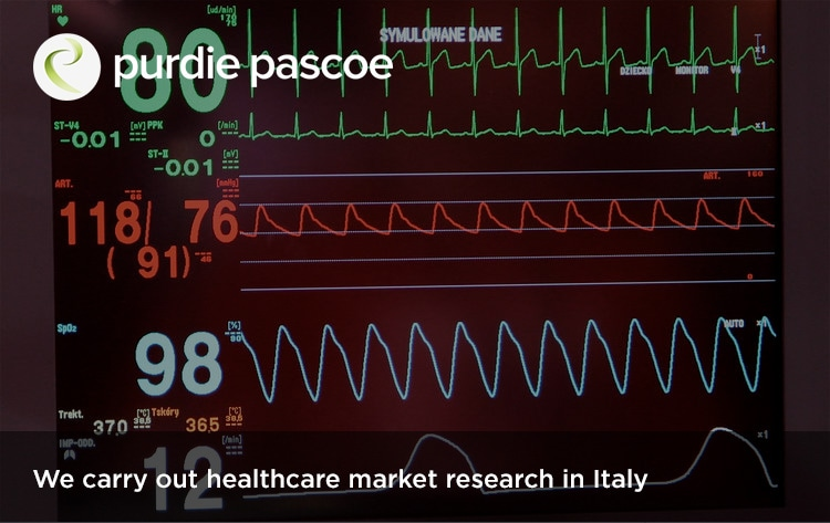 We carry out healthcare market research in Italy