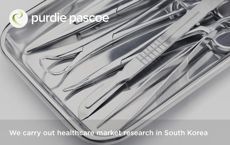 We carry out healthcare market research in South Korea
