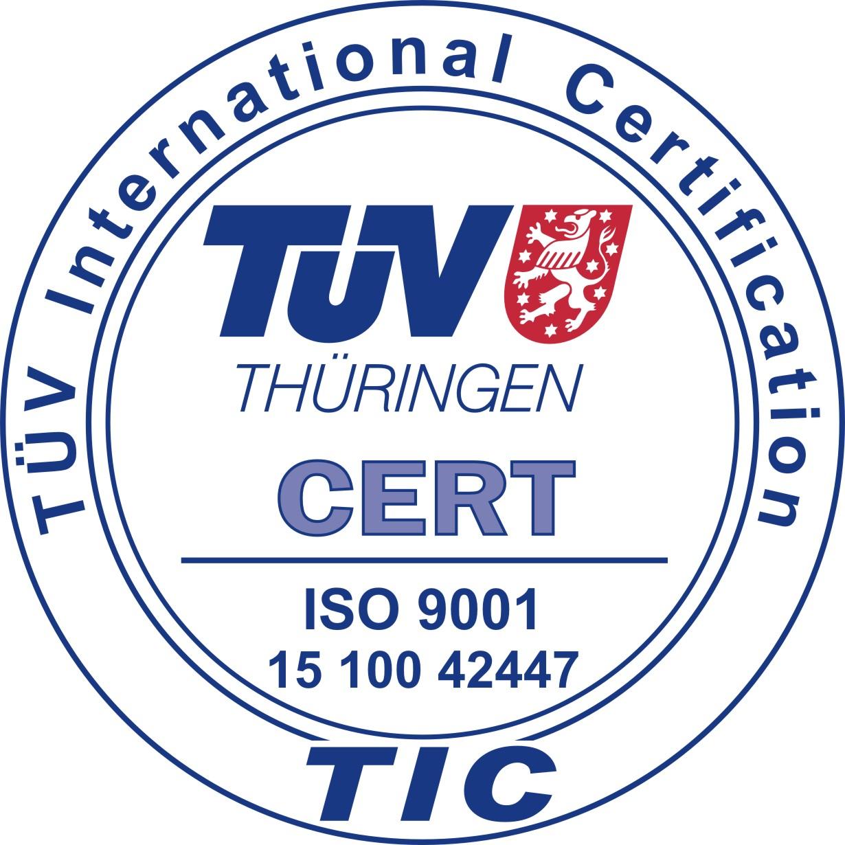 2016 - Zertifizierung des Qualitätsmanagementsystems nach DIN EN ISO 9001