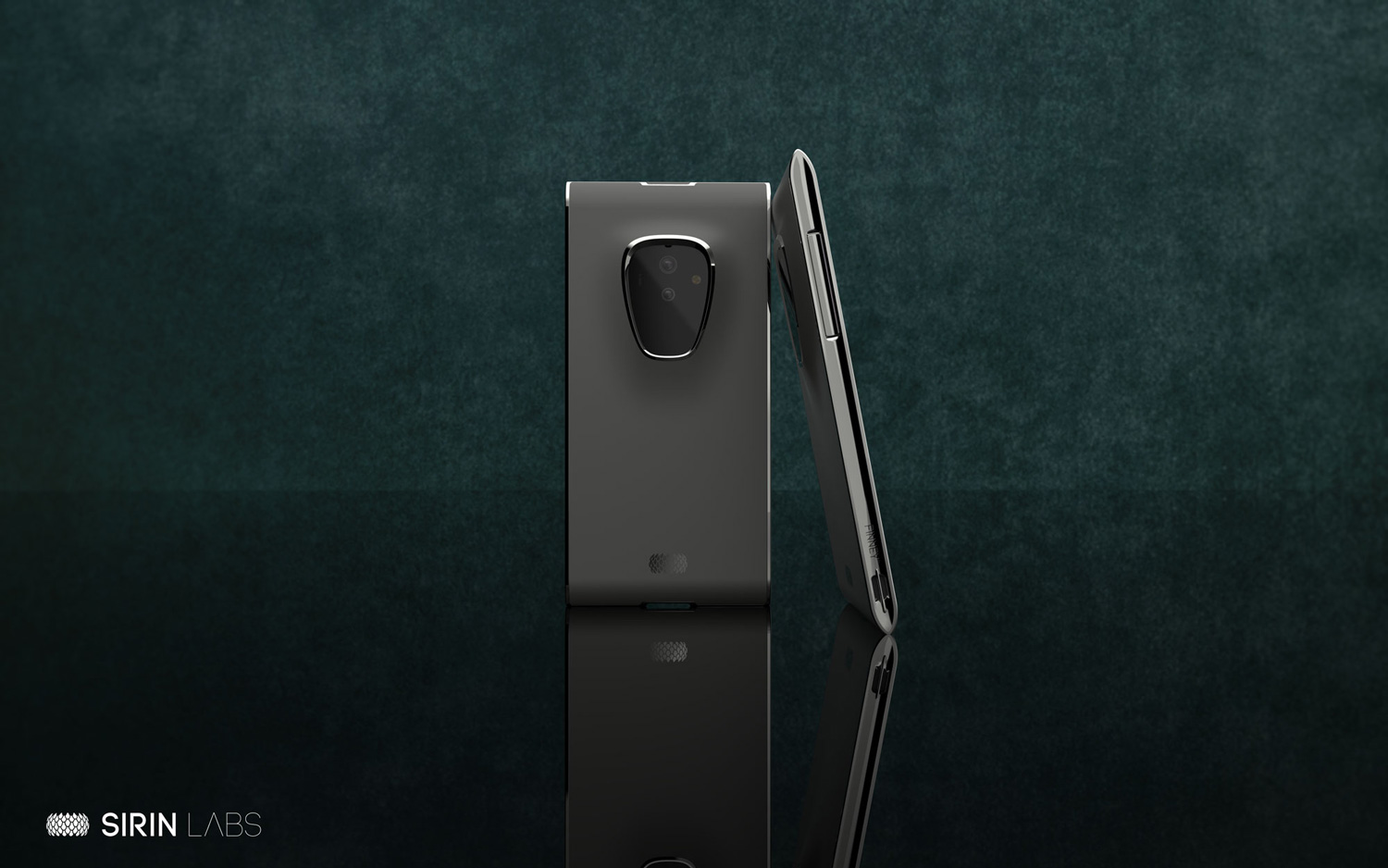 'Finney', the latest in the line of Sirin Labs blockchain smartphones. Credit: Sirin Labs.