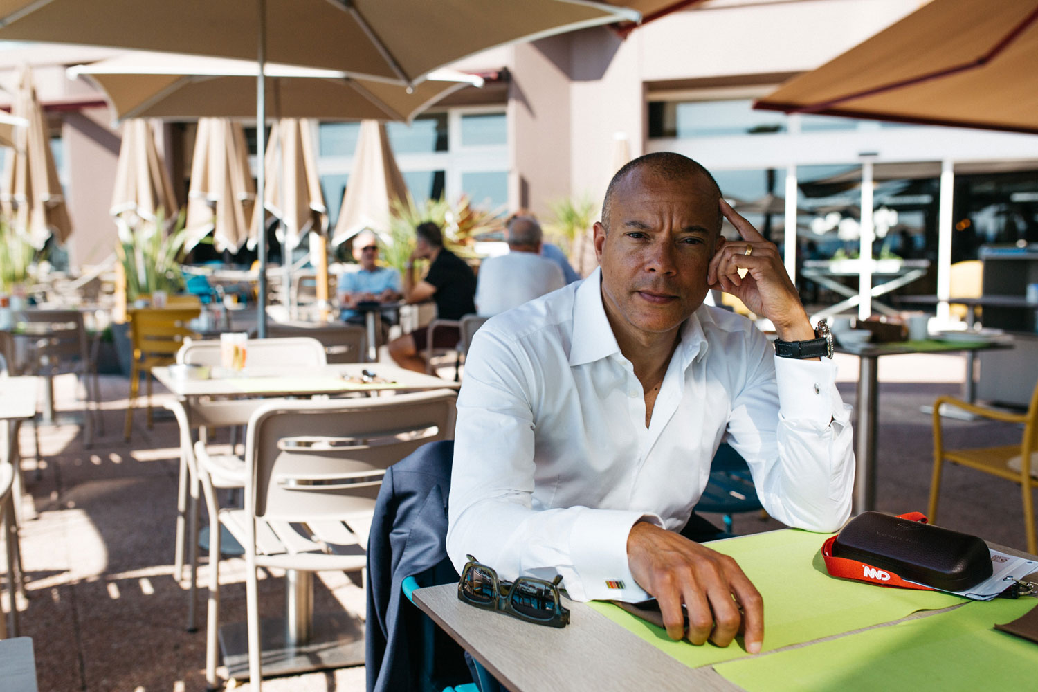 Manfred Fitzgerald during our interview at the Pullman Casino Hotel in Cannes