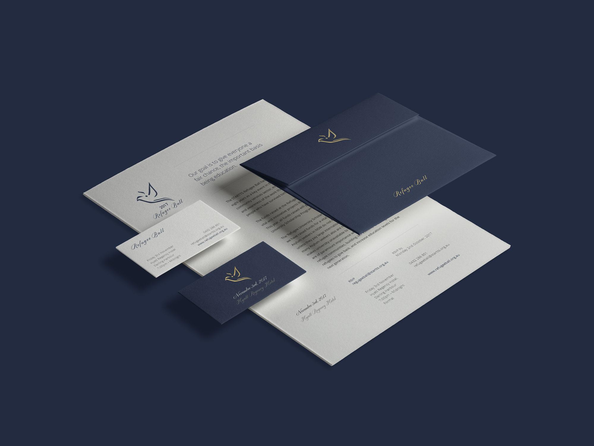 Logo Design / Brand Identity / Web & Print Design     STARTTS REfugee Ball