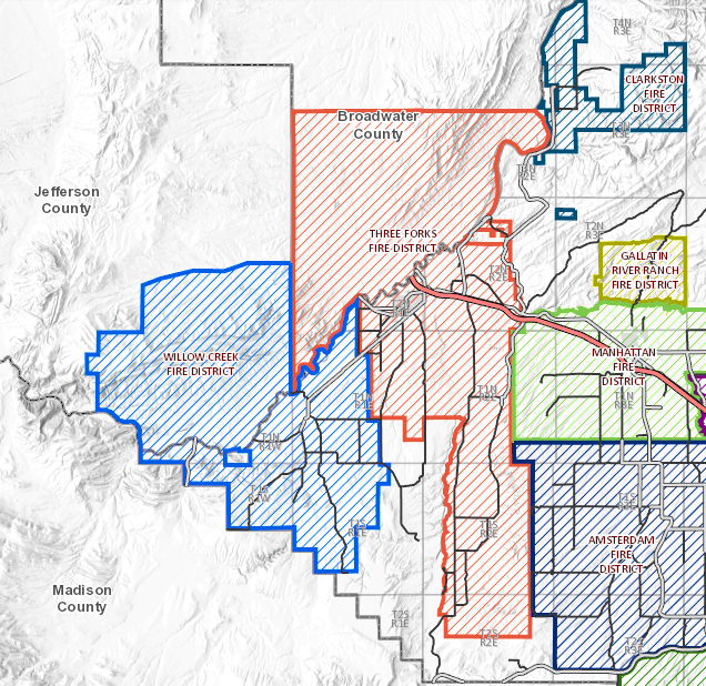 Fire Districts surrounding the Three Forks area