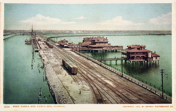 This is the Port Tampa & St Elmo inns in Port Tampa. At the time, it was the only place you could fish from your hotel room! Check out our story about it here!