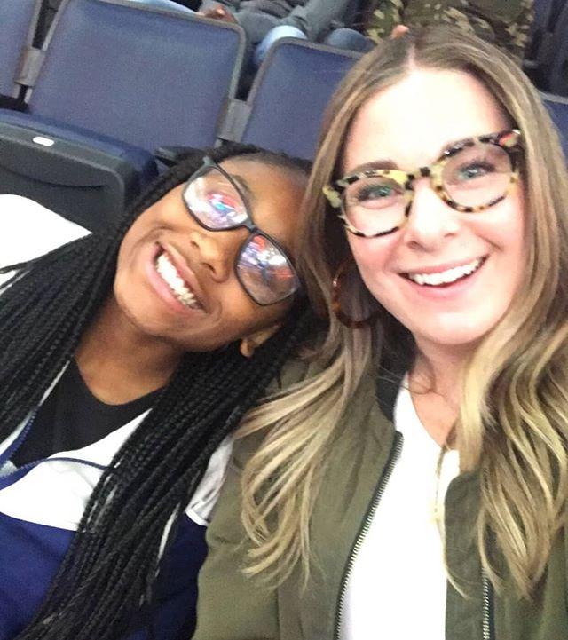 Mentor Brooke & mentee Shontia at the Lynx Basketball game.