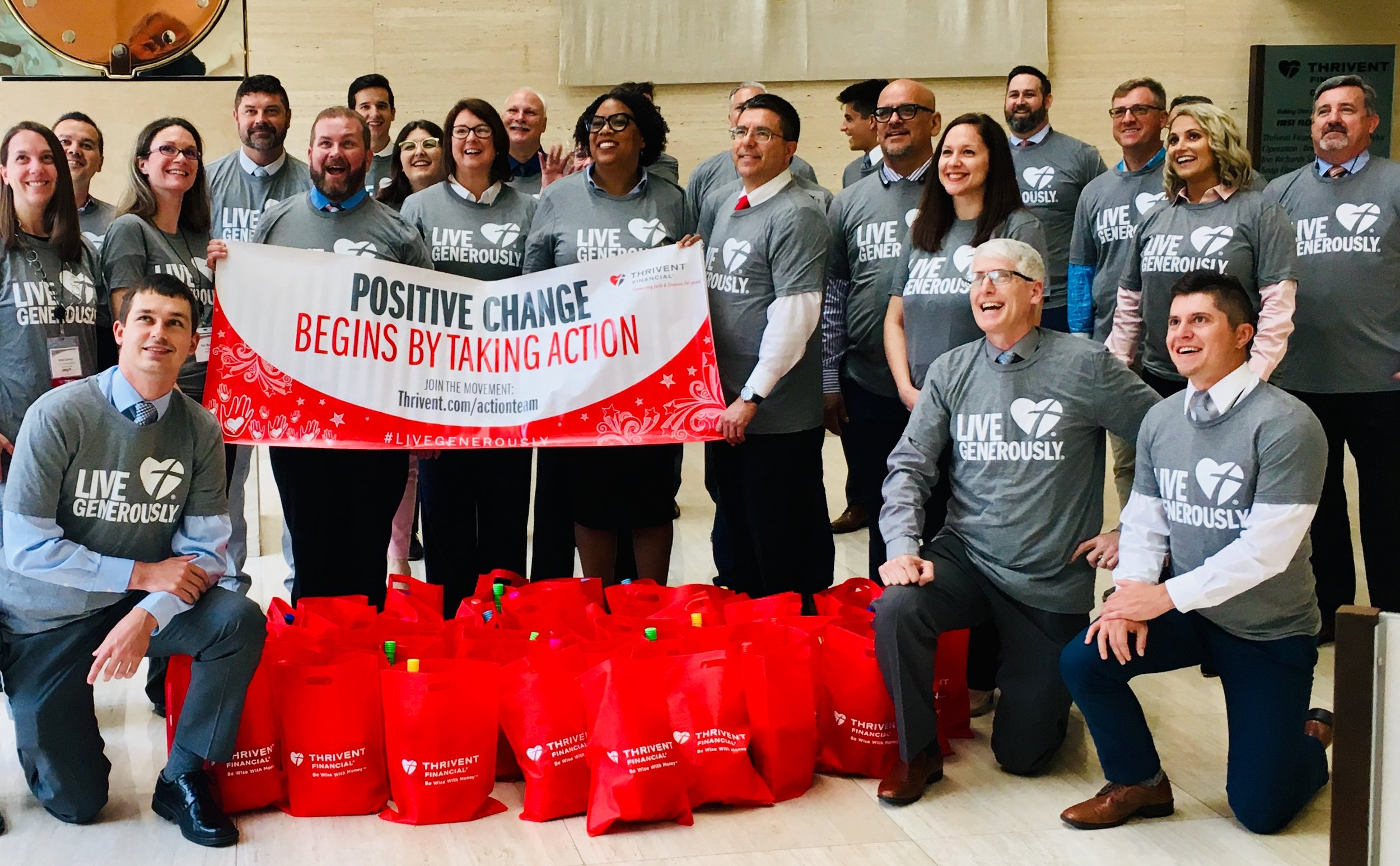 Thank you for Thrivent for your continuous support. This quarter, Thrivent packed two sets of bags for our matches and mentees!