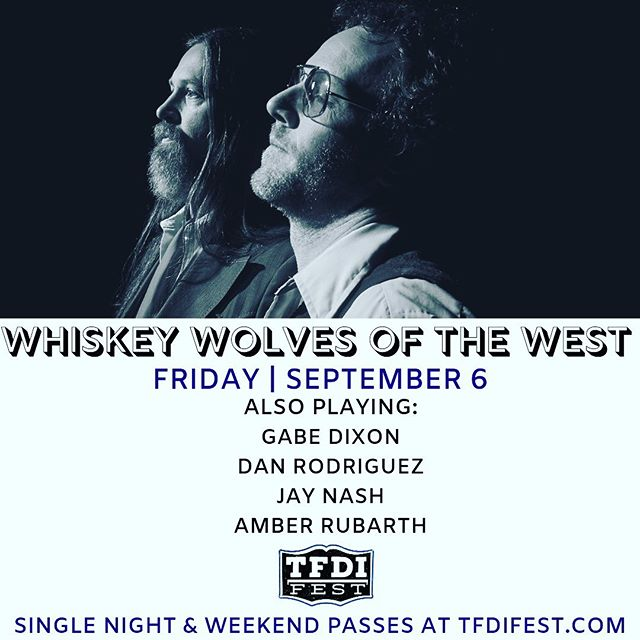 GET YER TICKETS! . And then get yerself and some pals to @tfdifest for this hot tamale lineup 🥃🤘🏼🐺 . @whiskeywolvesofthewest @luccadoes @iamjaynash @amberrubarth @garrisonstarr @matt_duke @buncearoo #tfdi #tfdifest #tfdifest2018 #whiskeywolvesofthewest #evanstonspace #getyourtickets