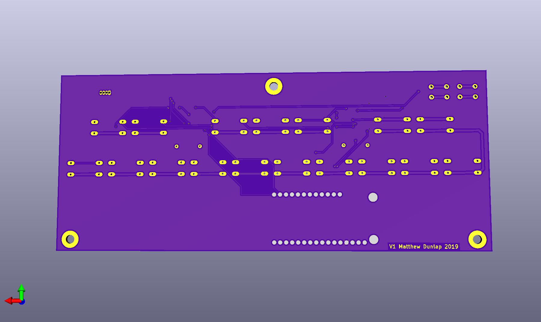 3D Render of the Back of the PCB