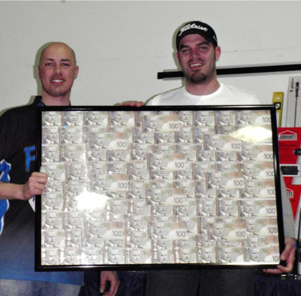 2010  The 7th Annual $10,000 Falcon Lake Winter Fish-Off was a great success with  166 fish weighed in . A new record! We welcomed contestants from as far as away from Gilliam MB, Thompson MB, Martensville SK, Hearst ONT, Toronto ONT, and even Hay River NWT! Here's a brief recap, by the numbers:  166 Fish weighed in this year. A new record!  50th place was 1.98 won by Derrick Vaughn   1st place $10,000 winner was a 20.02 pound pike caught by Mike Toews   2nd place was a 8.44 pound pike caught by Gord Steiss  3rd place was a 7.24 pound pike caught by Geo Guertin  10th placing was 5.14 pounds