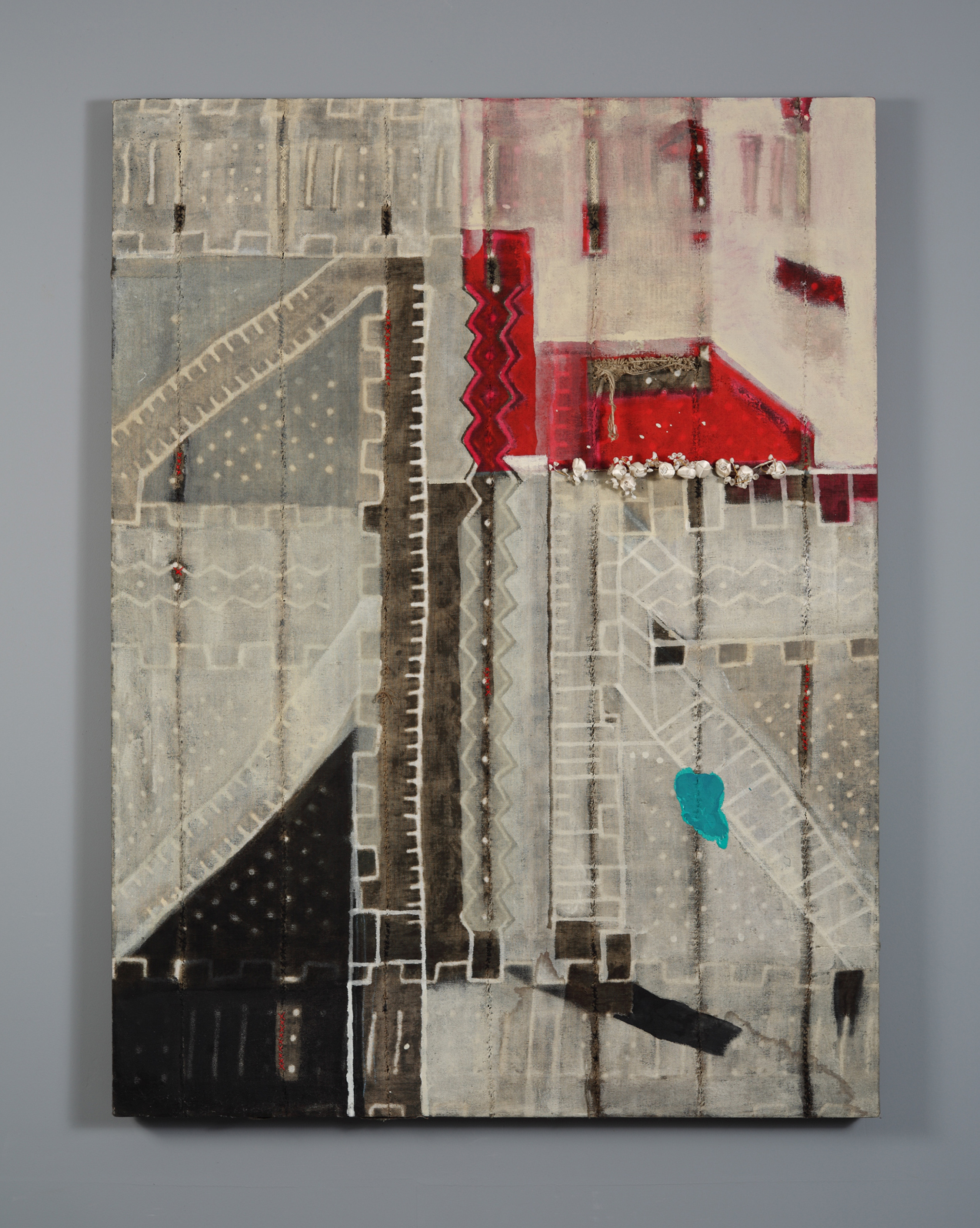 """These 98 randomly selected images are constructions and collages, mixed media works consisting of canvas, plaster, tin and iron, photographs and various paints, oil, tempera, casein, and inks etc., boxed and framed under glass. Made over a 20 year period to the present.    Depths vary from 1"""" to 9"""" and sizes from 8""""x10"""" to 72""""x72"""""""