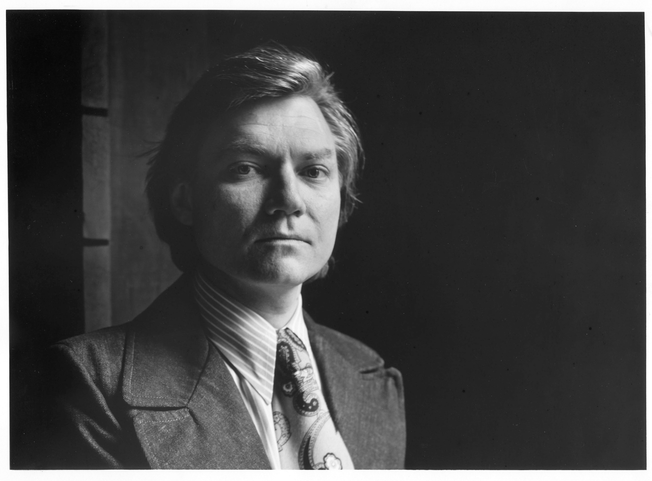 RISD's official portrait of John Udvardy when he was hired and appointed the new chairman of the Freshman Foundation Division and Director of the Summer Transfer Program. June 1973.