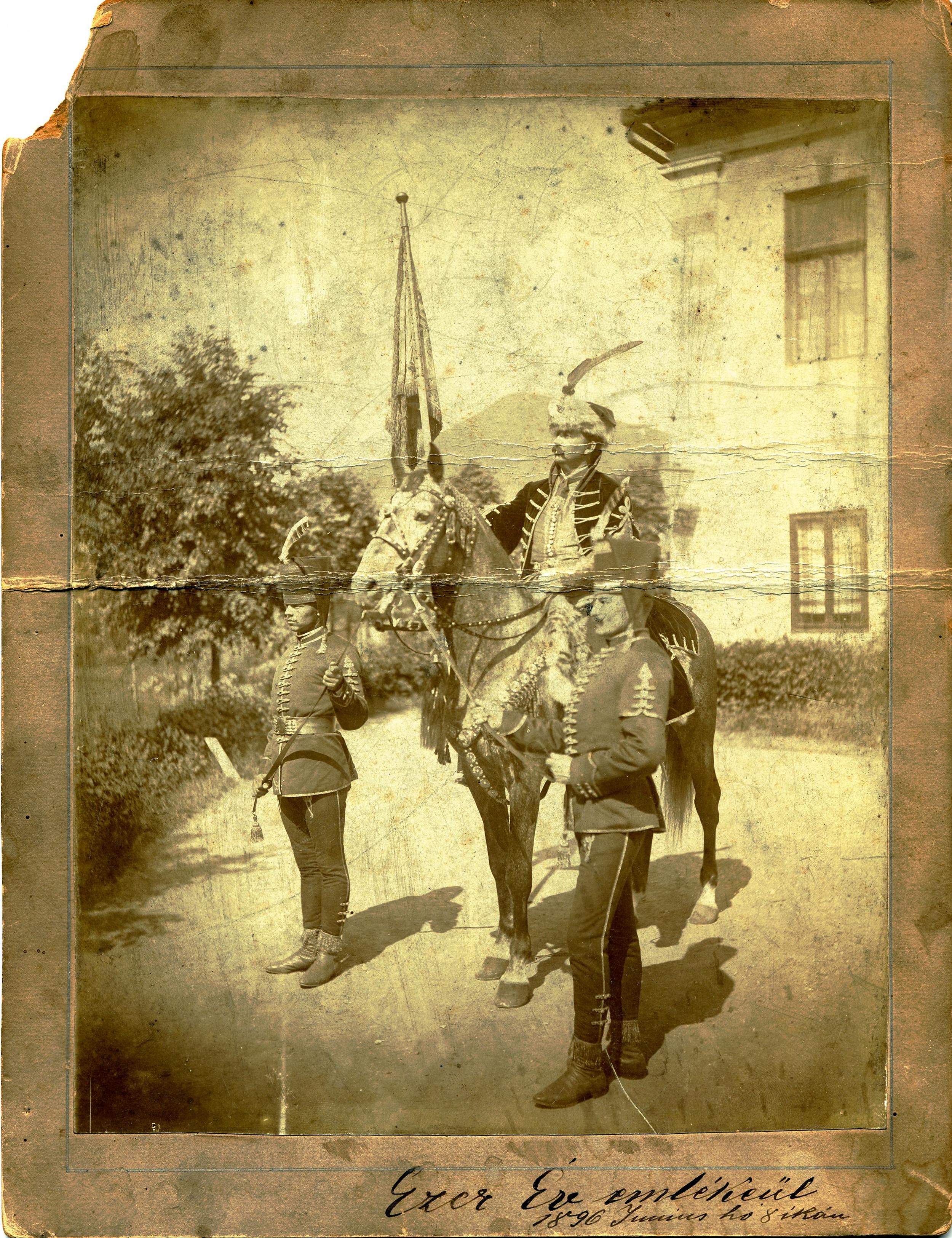 JU's grandfather (right foreground) Honor Guard - Royal Palace - Budapest, Hungary, 1898
