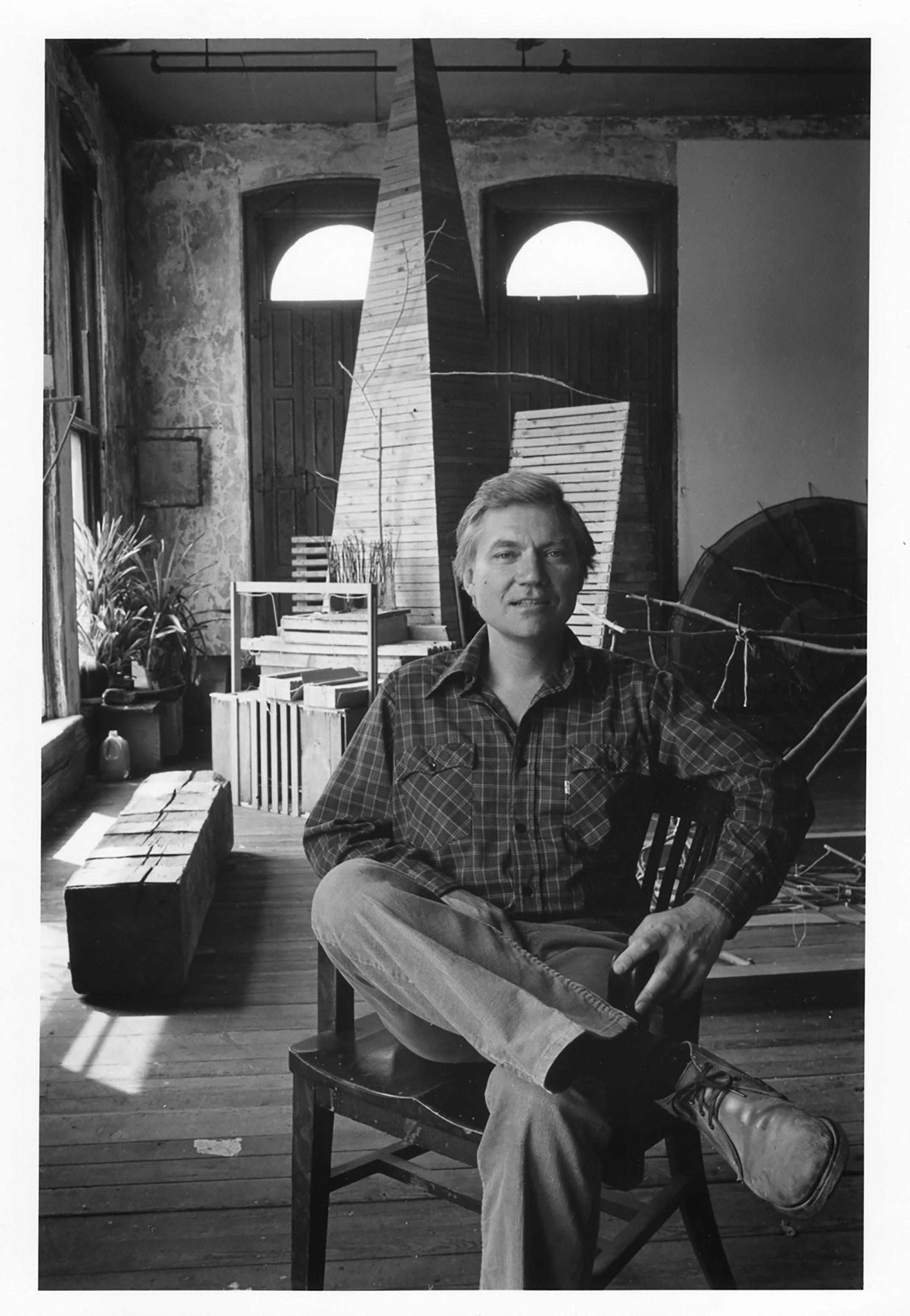 JU in his studio loft, 4th floor Fain Carpet building, 128 North Main St, Providence, RI