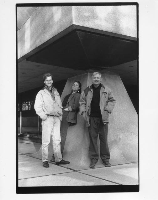 Aaron,Shana and JU at the Isamu Noguchi Sculpture Garden, Beinecke Rare Book Library, Yale University Fall 1987