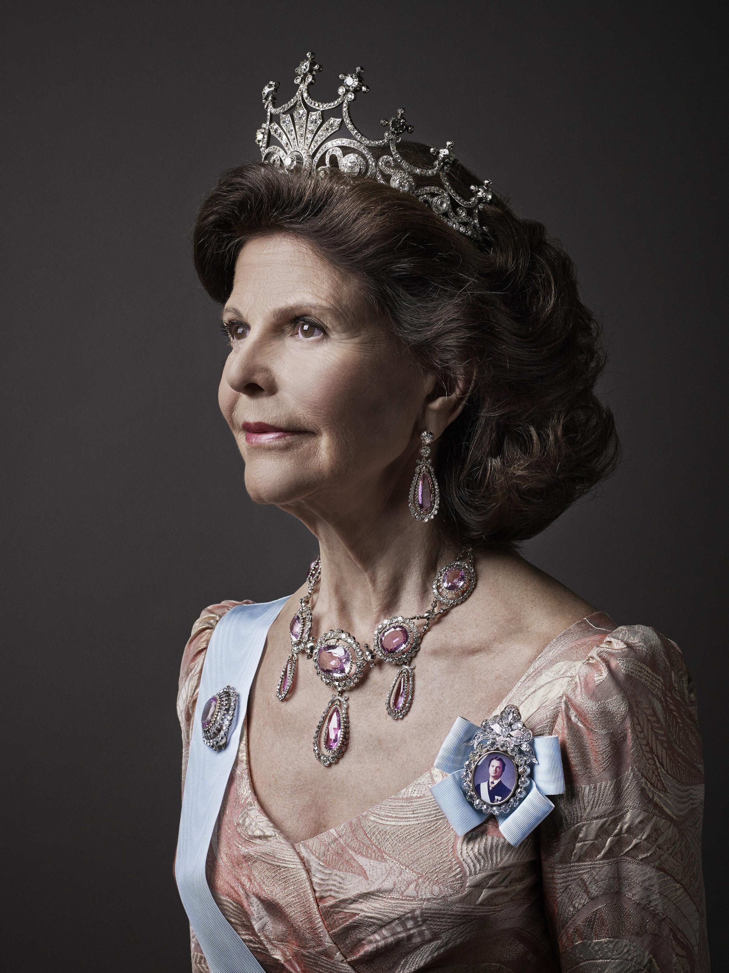 Ihr königliches Haupt krönt Silvia gerne mit der Tiara von Königin Sofia.  Foto: Anna-Lena Ahlström kungahuset.se