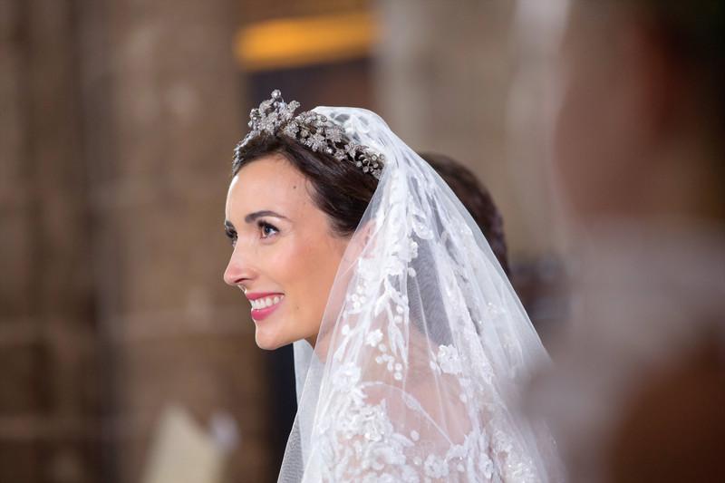 Prinzessin Claire trug diese Tiara bei ihrer Hochzeit im Jahr 2013. © Cour grand-ducale, Eric Chenal,
