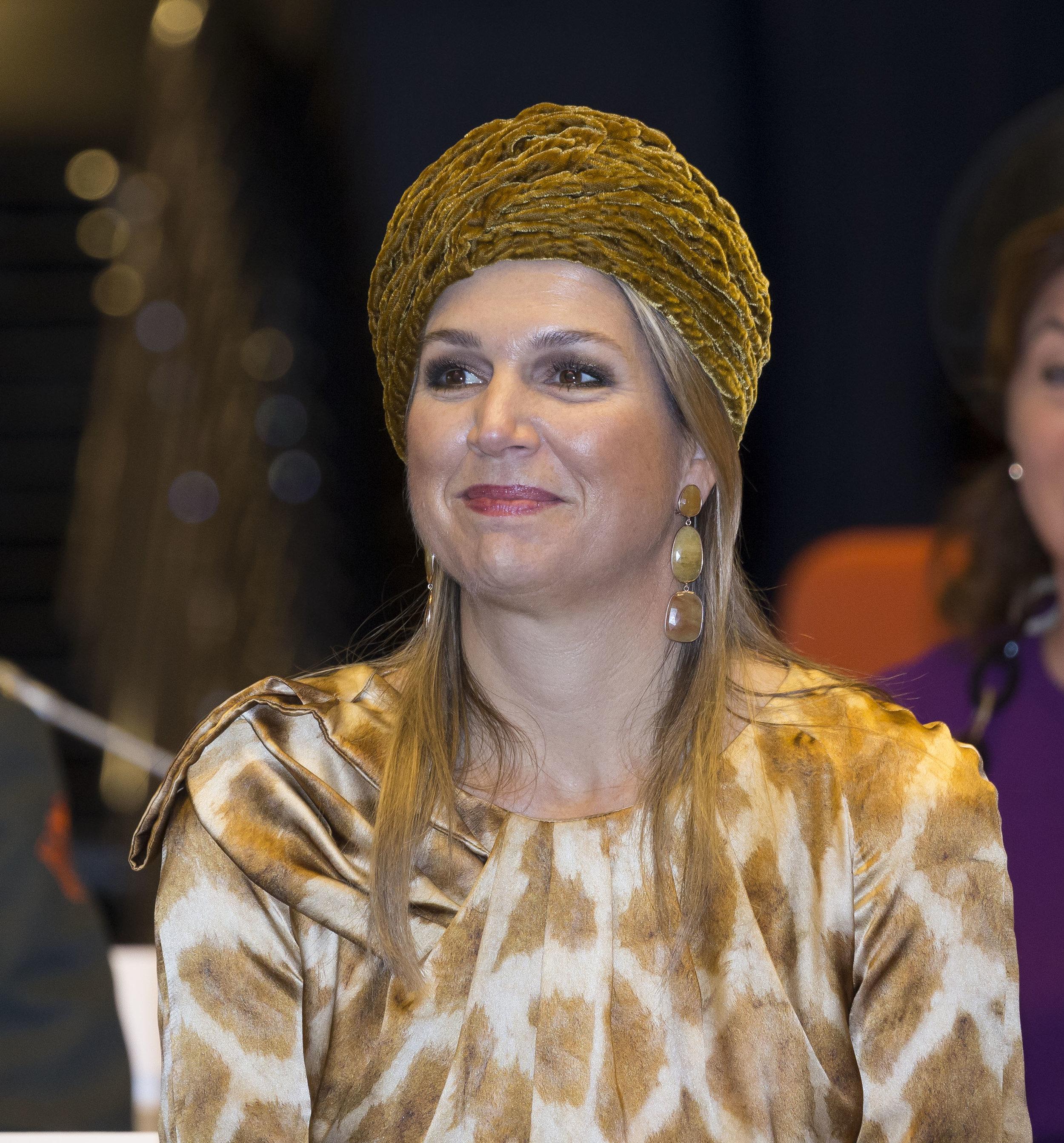 Diesen Zwanzigerjahre Turban hat Königin Maxima schon häufiger getragen  Foto: Getty Images