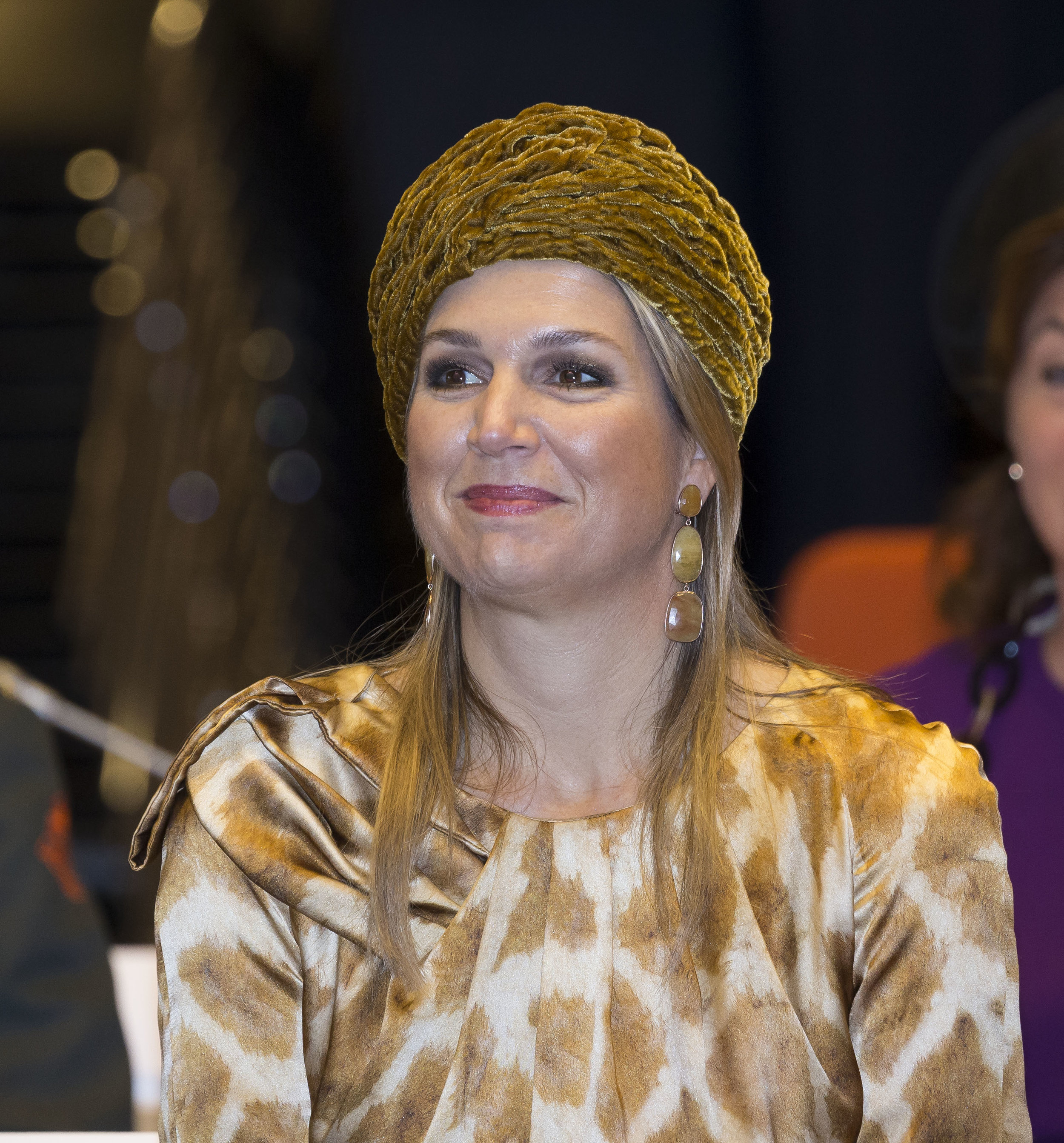 Diesen Zwanzigerjahre Turban hat Königin Maxima schon häufiger getragen  © Getty Images