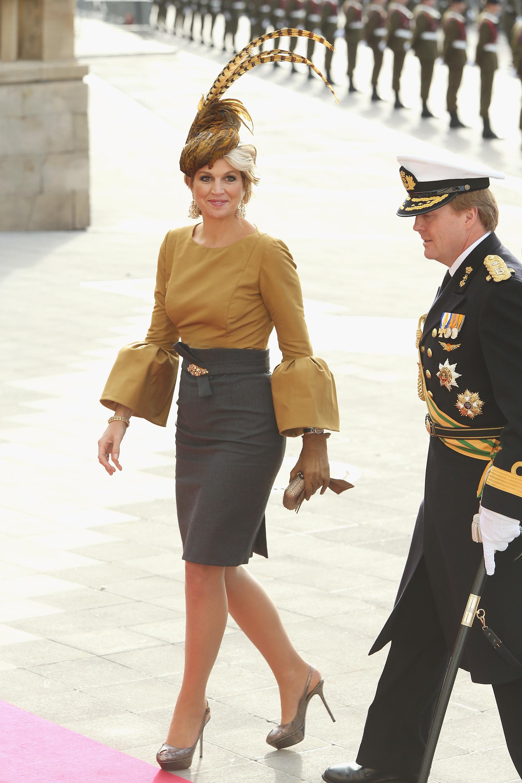 Ein wahrlich königlicher Auftritt von Maxima   Foto: Getty Images