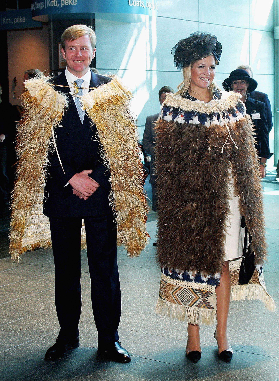 Modisches Neuland: Das Königspaar beim Staatsbesuch in Neuseeland.  ©Getty Images