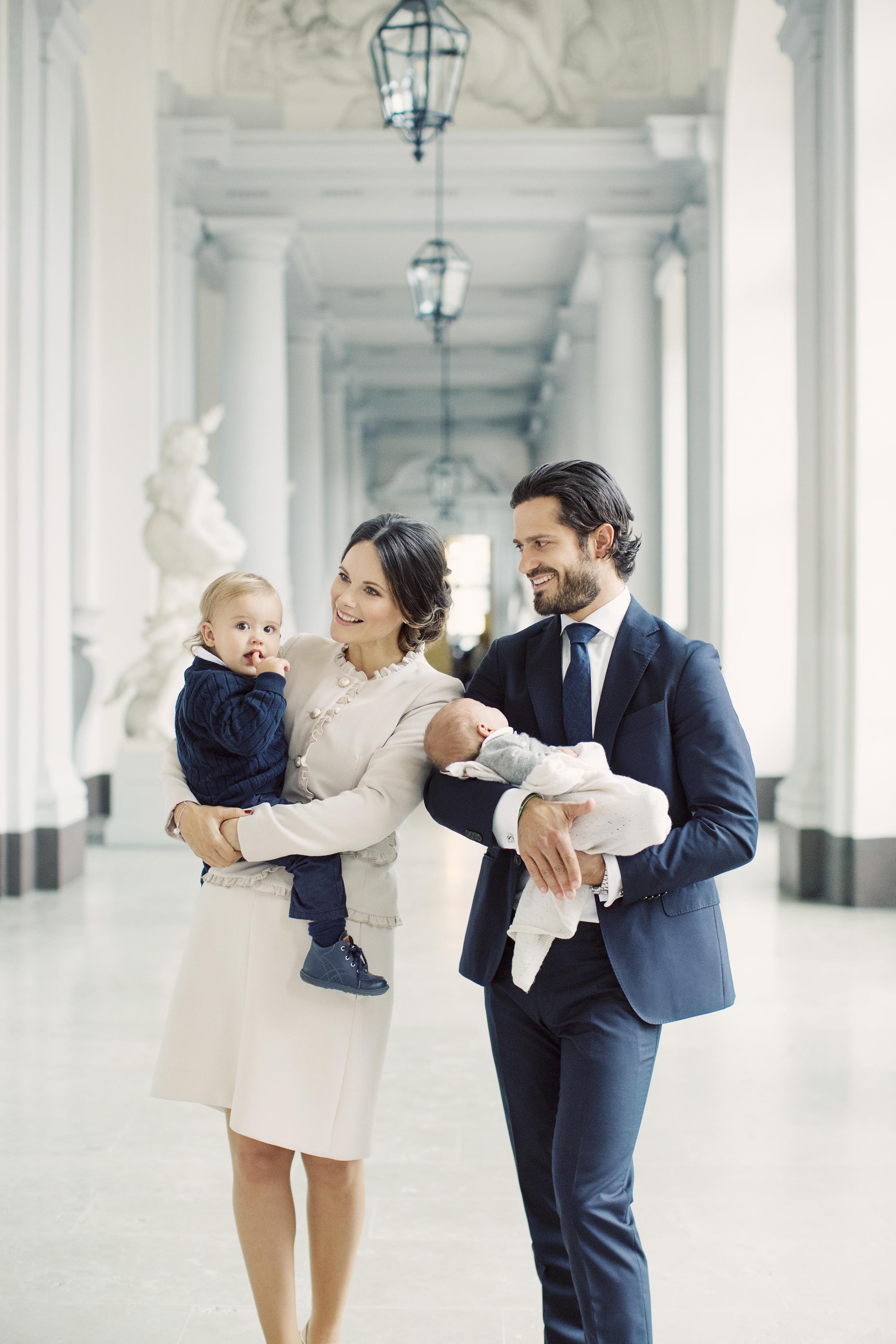 Prinzessin Sofia und Prinz Carl Philipmit den Söhnen Alexander und Gabriel   Foto: Erika Gerdemark, Kungahuset.se