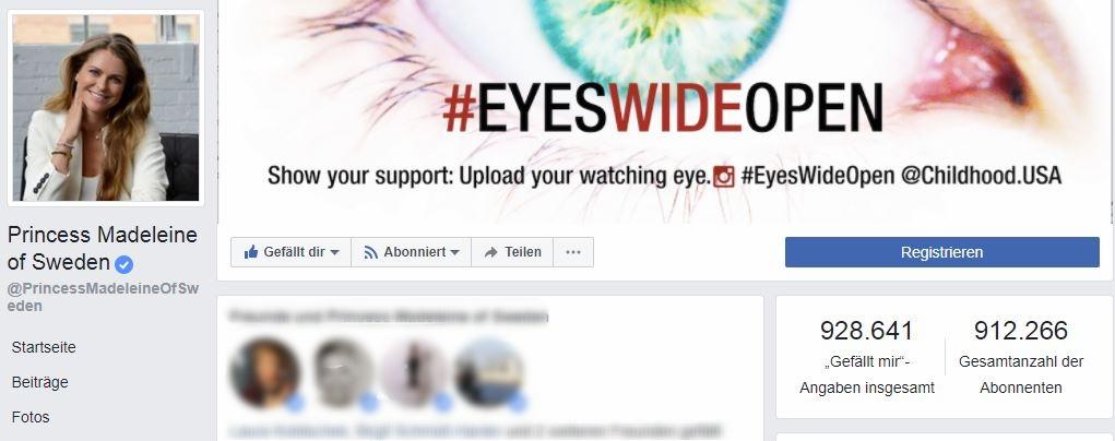 Auf ihrer Facebook-Seite veröffentlicht Madeleine regelmäßig private Schnappschüsse und wirbt für ihre sozialen Projekte   Foto: Screenshot Facebook