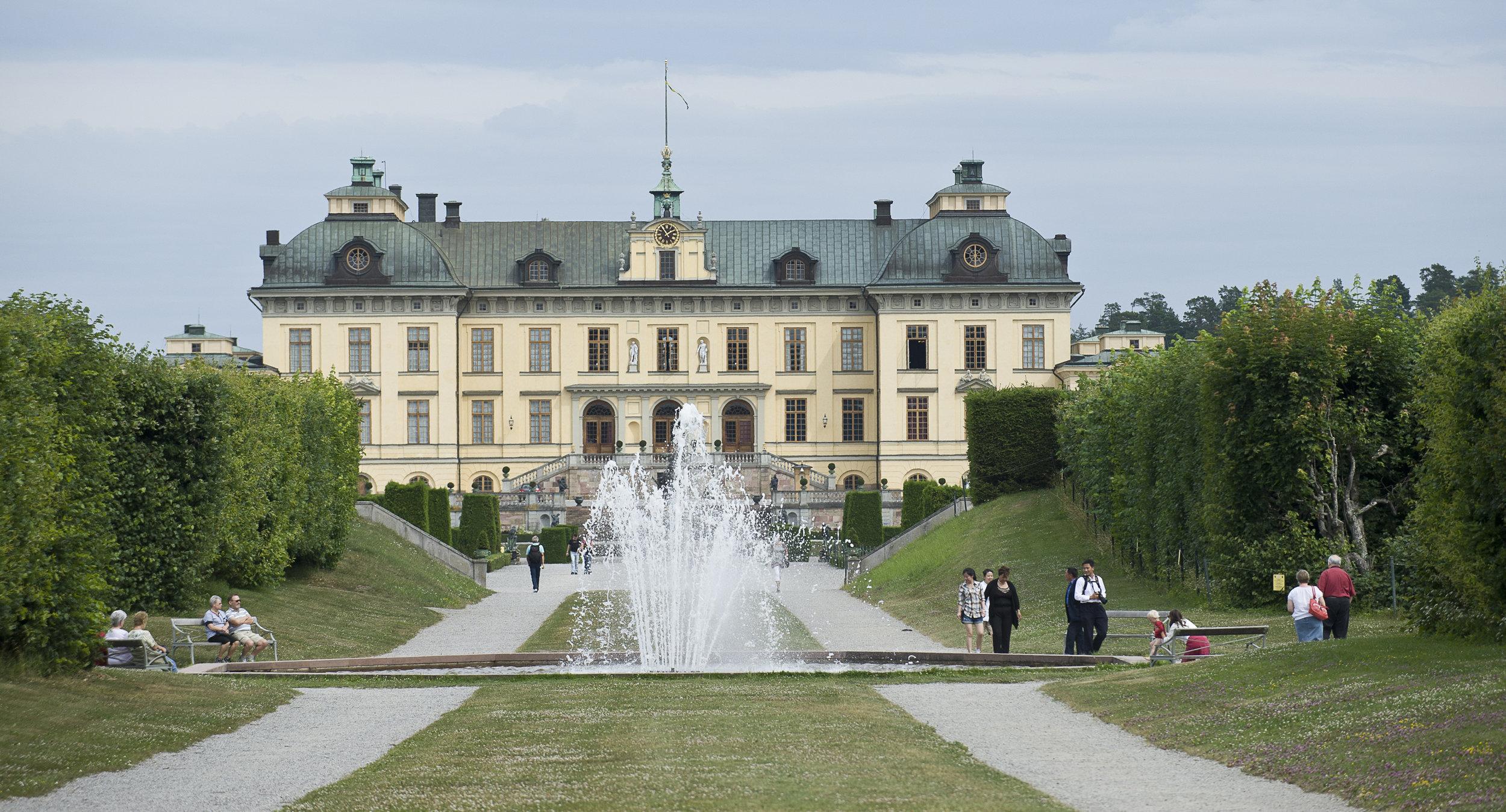 Gruselig: Schloss Drottningholm wird nicht nur von unzähligen Touristen besucht...  Foto: Gomer Swahn, Kungahuset