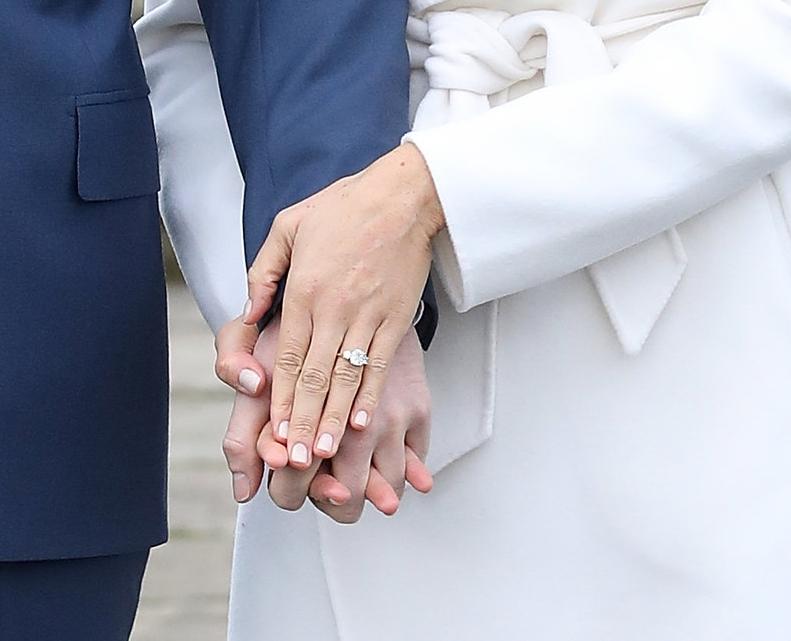 Prinz Harry hat den Verlobungsring seiner Meghan selbst entworfen   Foto: Getty Images