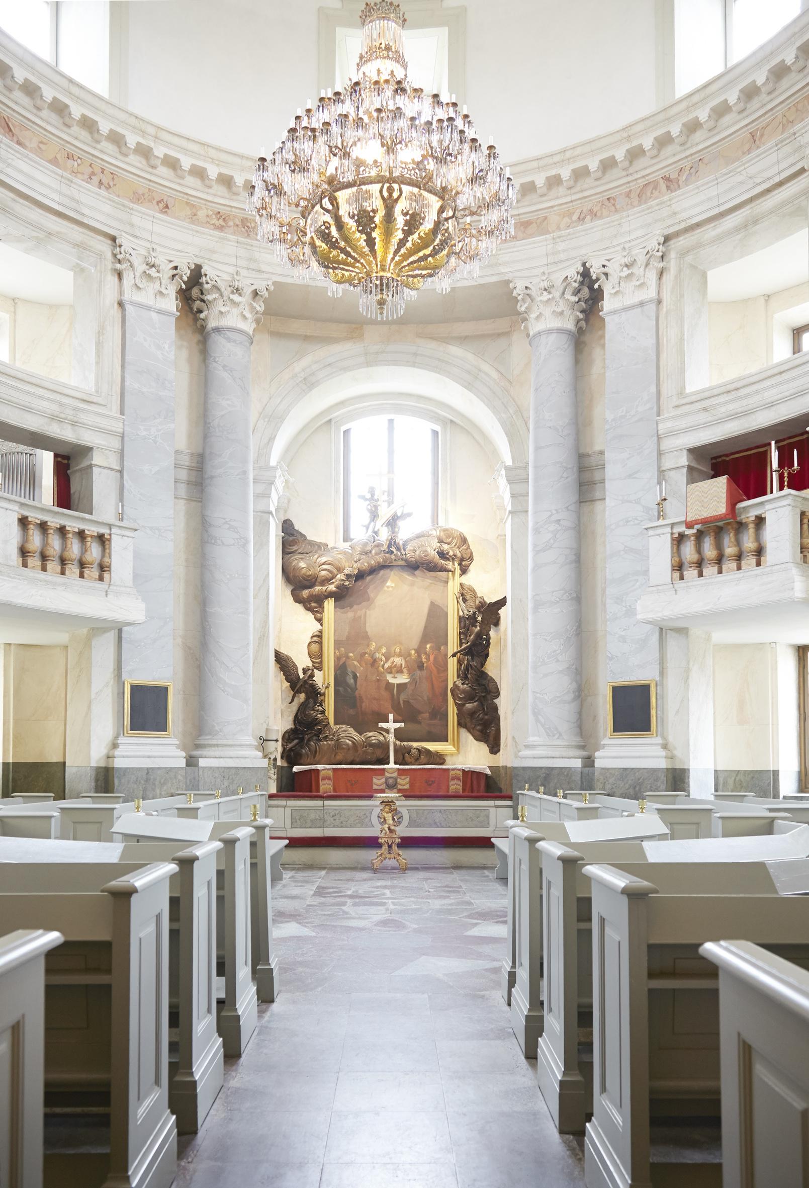 Die wunderschöne Schlosskirche wurde in die Liste des Weltkulturerbes der UNESCO aufgenommen   Foto: Anna-Lena Ahlström, kungahuset.se