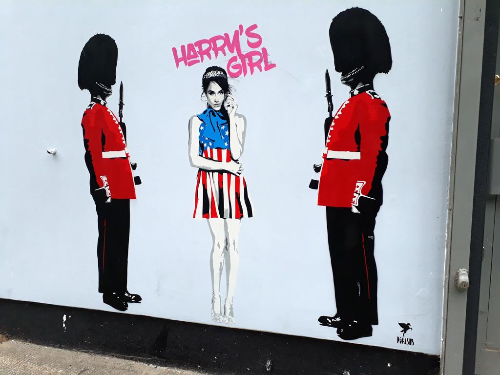 Meghan Markle hat den Künstler Pegasus zu dieser Straßenkunst inspiriert    Foto:  Gramahm C99 , CC BY 2.0