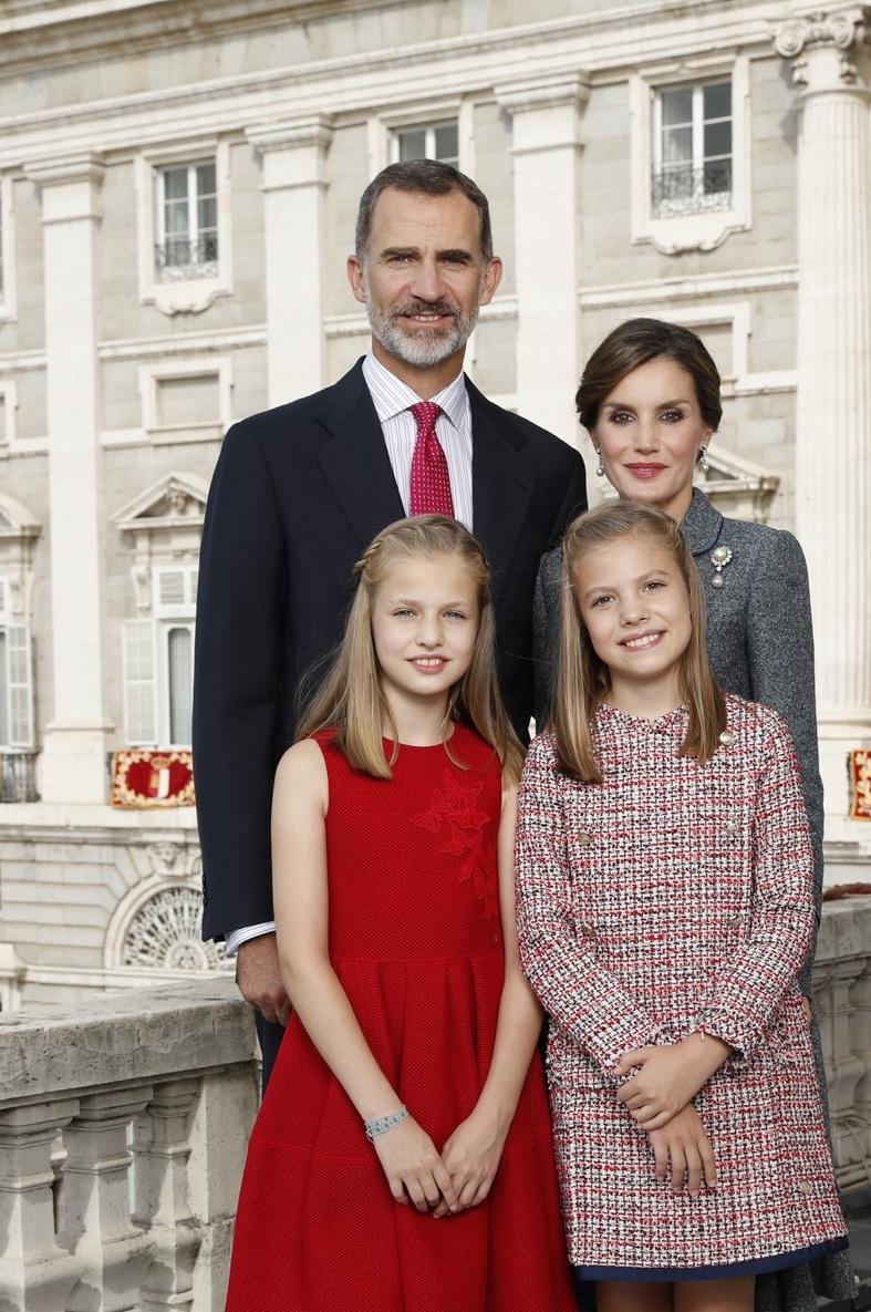 Die Weihnachtskarte der spanischen Königsfamilie    Foto: Casa de S.M. el Rey