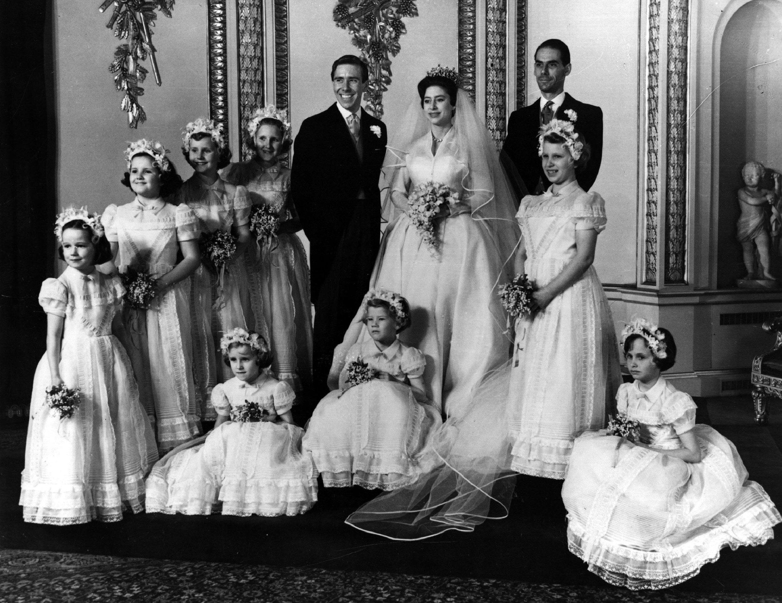 Prinzessin Margaret heiratet den Fotografen Antony Armstrong-Jones im Jahr 1960. 18 Jahre später folgt die Scheidung. Beide blieben jedoch befreundet. Foto: Getty Images