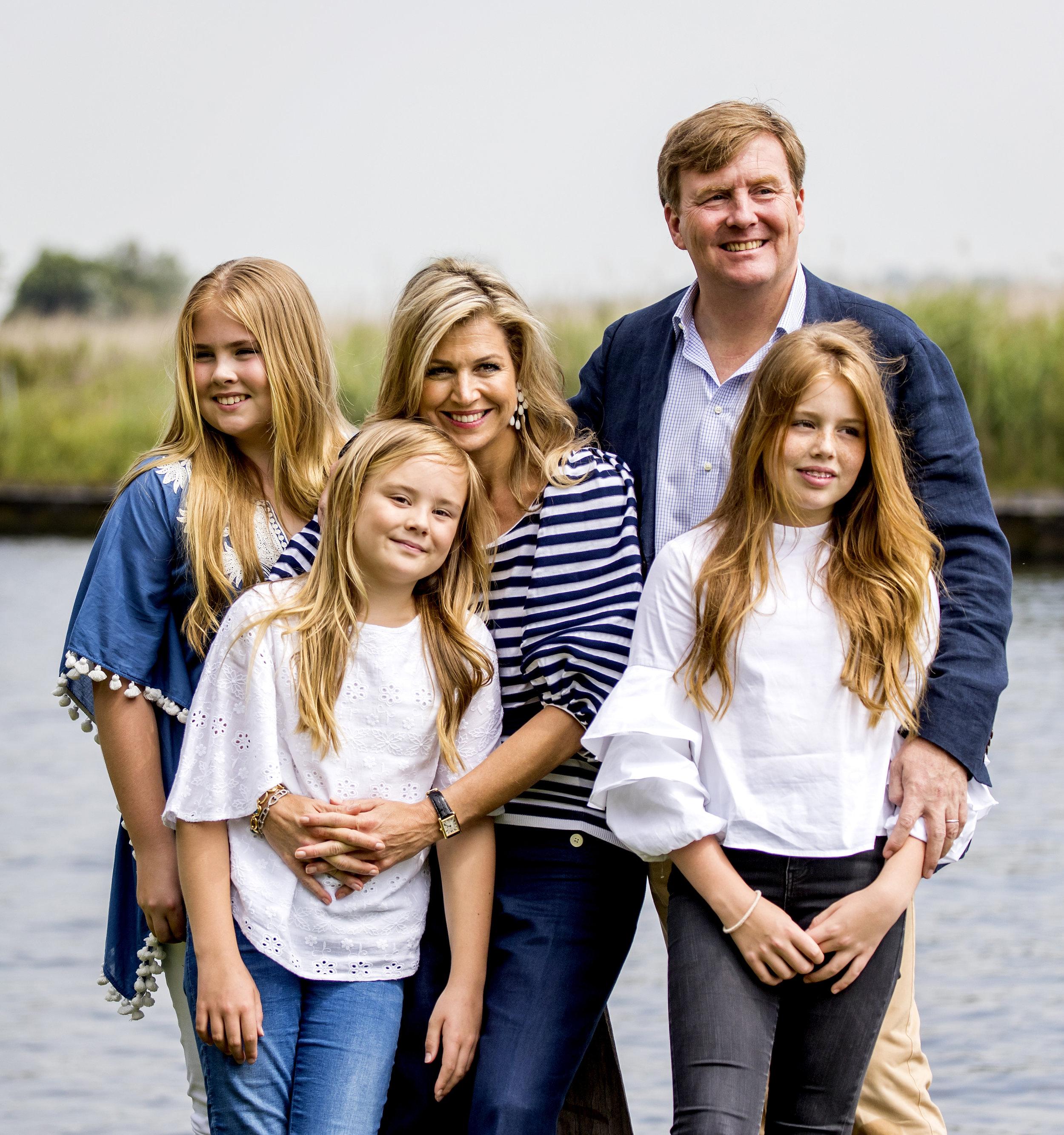 Mit ihren drei Töchtern verbrachten Maxima und Willem-Alexander ihren Urlaub in Miami    Foto:RVD, Jeroen van der Meyde