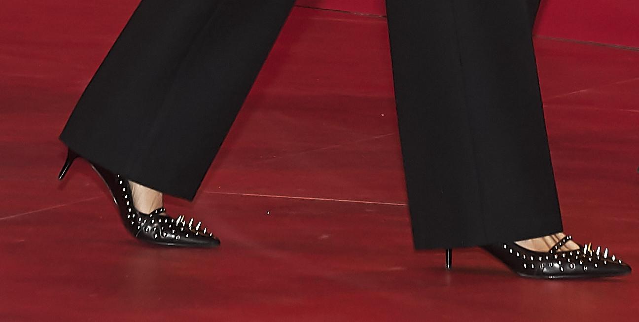 Detailansicht: So wild sind die Schuhe der spanischen Königin.    Foto: Getty Images