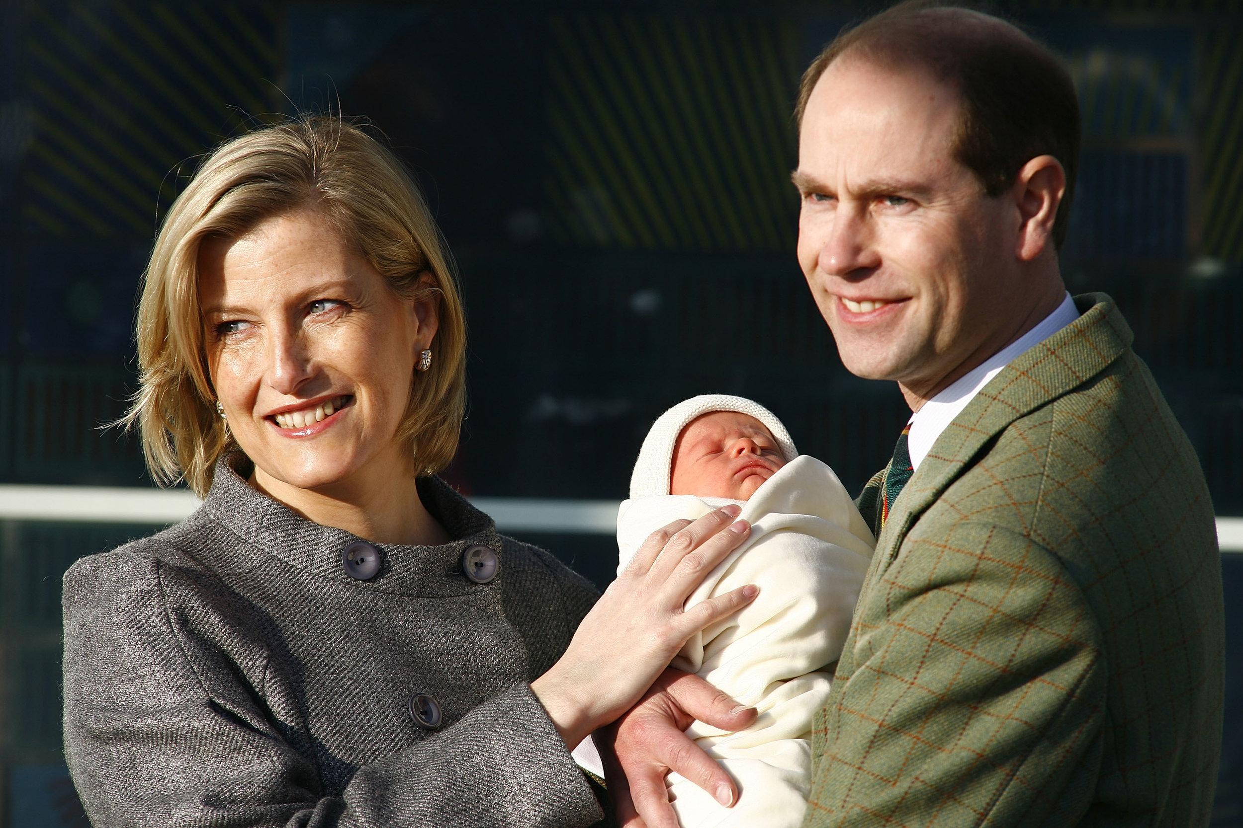 2007 wurden Sophie und Edward Eltern von Sohn James. Die Schwangerschaft und Geburt verliefen ohne Probleme. Foto: Getty Images