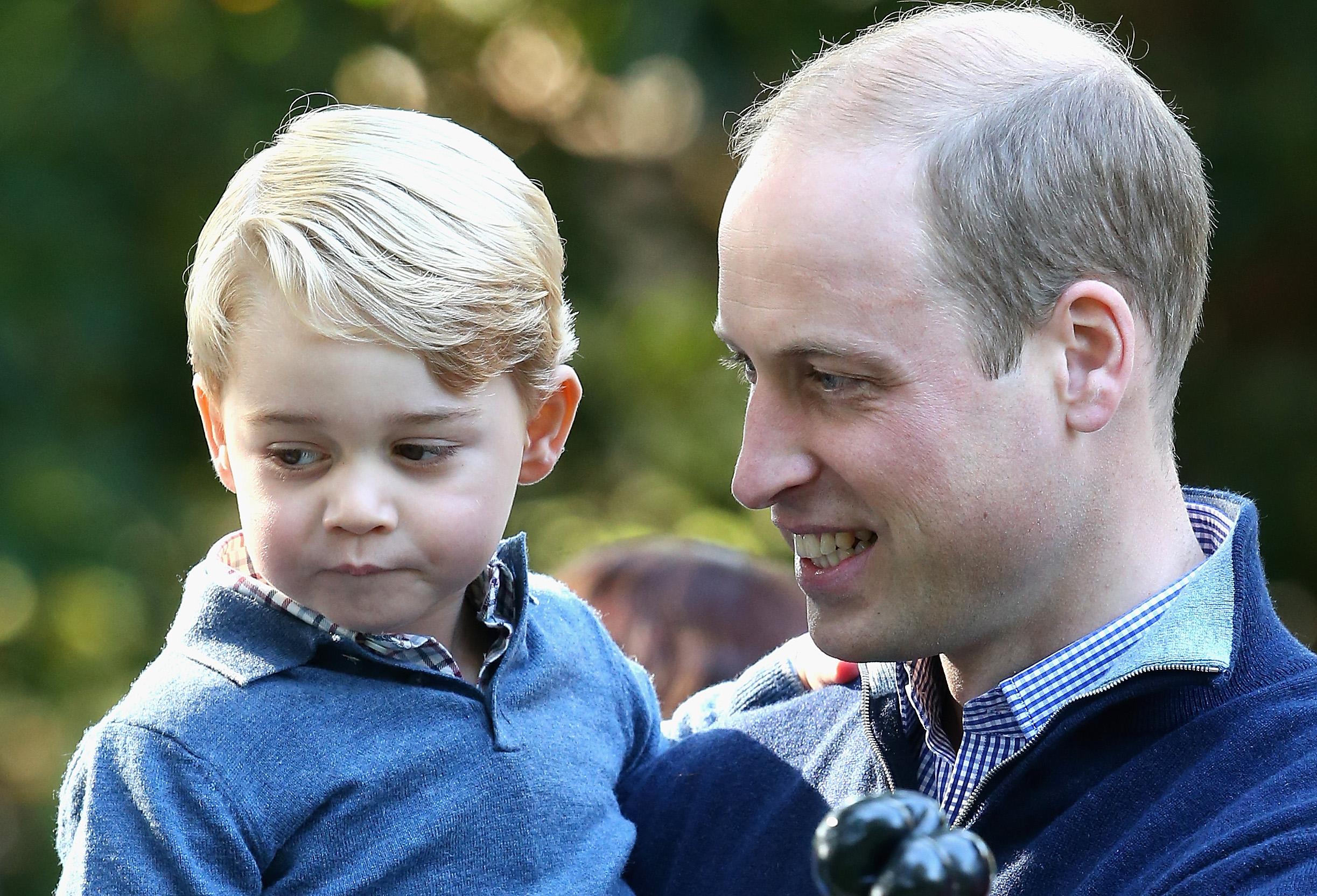 Prinz George und Prinz William schauen gerne gemeinsam Kinderfilme an.    Foto: Getty Images