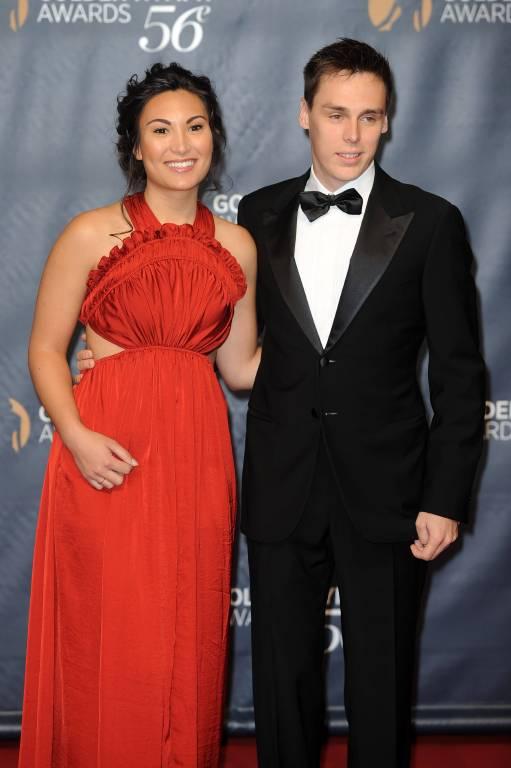 Marie Hoa Chevallier mit ihrem Verlobten Louis Ducruet.    Foto:imago/Independent Photo Agency