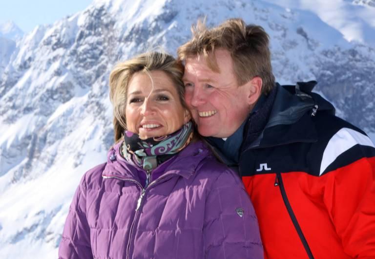 Von der Kälte in Lech hat Willem-Alexander schon ein ganz rotes Gesicht bekommen.    Foto:imago/PPE