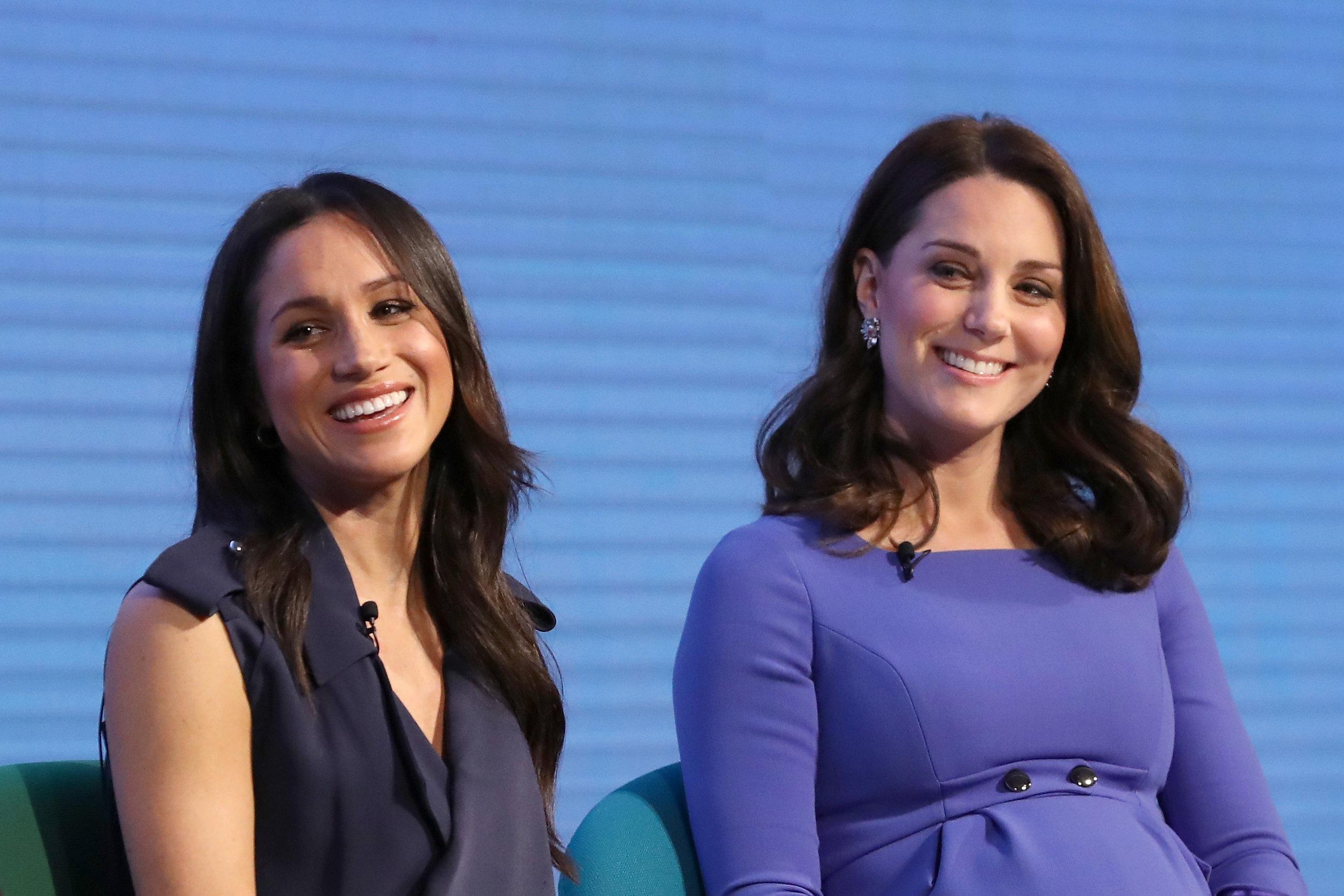 Böses Blut? Von wegen! Meghan Markle und Herzogin Kate scheinen sich angefreundet zu haben.    Foto: Getty Images