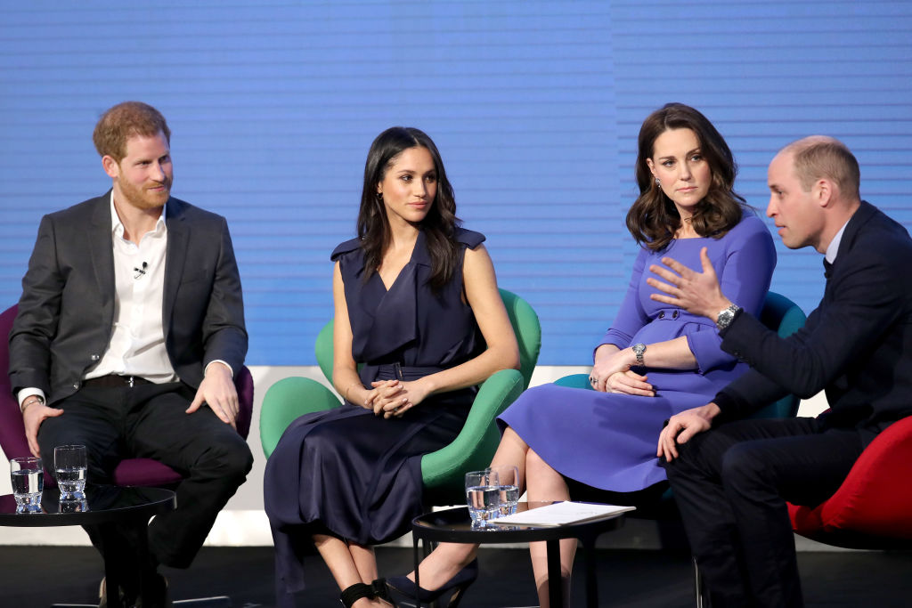 """Die """"Fab Four"""": Prinz Harry, Meghan Markle, Herzogin Kate und Prinz William wollen ihre Stiftungsarbeit noch weiter ausbauen.    Foto: Getty Images"""