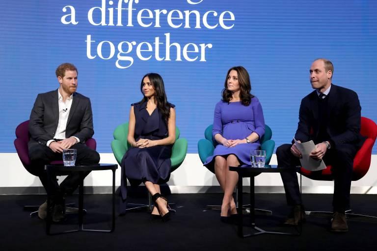 In Zukunft werden Prinz Harry, Meghan Markle, Herzogin Kate und Prinz William öfter gemeinsam bei wichtigen Terminen zu sehen sein.    Foto:imago/i Images