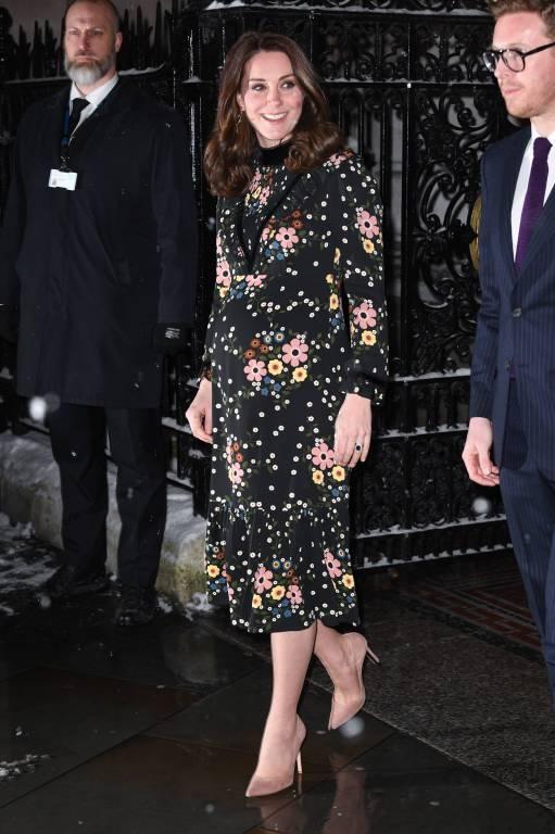 """Herzogin Kate ist Schirmherrin der """"National Portrait Gallery"""" und besucht eine Ausstellung in London.    Foto: imago/PA Images"""