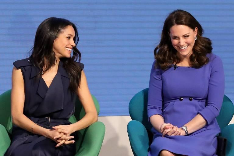 Meghan Markle und Herzogin Kate bekommen nun eigene Emojis.    Foto:imago/Starface