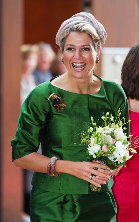 Diesen grünen Zweiteiler trug die niederländische Königin schon bei verschiedenen Terminen.  Foto: imago/PPE